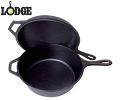 ロッジ/LODGE ロッジロジック コンボクッカー LCC3 (IH対応・片手鍋・スキレット・鉄鍋) [n]
