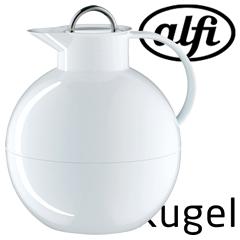 アルフィ/alfi ステンレス製卓上用ポット Kugel(クーゲル)1.0L ホワイト AFTA-1001S (アルフィー)