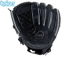 衝撃吸収素材を内蔵した軟式野球用グローブ カイザー グローブバスケット 10.5インチ ブラック 安値 軟式野球 グローブ 野球 お見舞い KW-307 カワセ