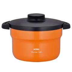 サーモス/THERMOS 真空保温調理器シャトルシェフ KBJ-3000 オレンジ (電磁調理器対応・IH対応・両手鍋)