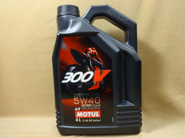 モチュール エンジンオイル 300V 4T 5W40 4L MOTUL 300V FACTORY LINE ROAD RACING