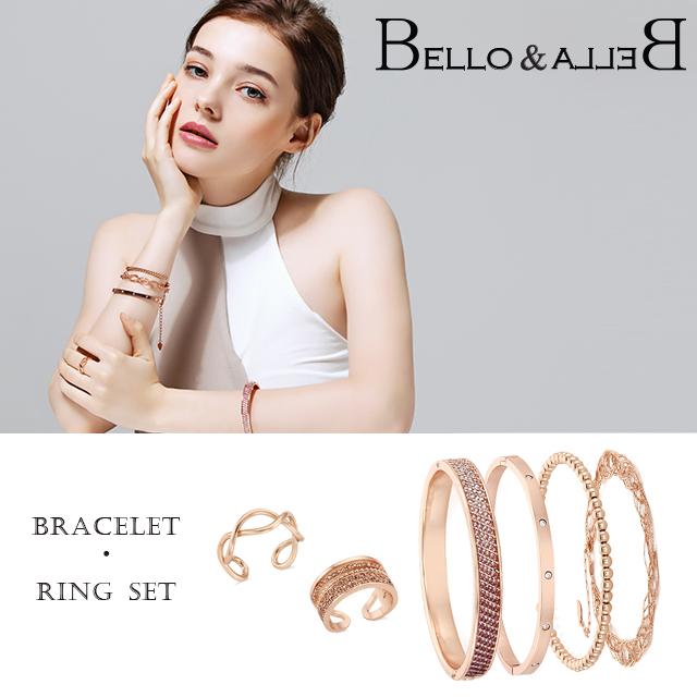 ベローアンドベラ ブレスレット リング bracelet ring 6点セット スワロフスキー ジュエリー レディース ジルコニア