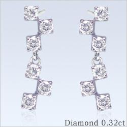 K18 0.32ctダイヤモンドスウィングピアス『La Luisante 12diamond』0.32カラット[SIクラス]透明感溢れる眩いばかりの輝きを放つ天然ダイヤモンド--【送料無料】【18金】【18k】【ゴールド】【楽ギフ_メッセ】【0824カード分割】