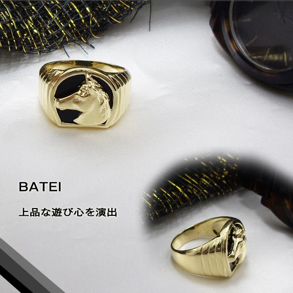 K18ゴールドダイヤモンドメンズリング【Men's】オニキス馬蹄リング 馬蹄メンズリング【送料無料】【SALE】【半額】【楽ギフ_メッセ】【0824カード分割】