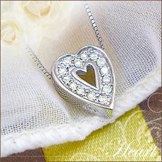 K18YG/PG/WG【0.1ct】ダイヤモンドハートペンダントネックレス『Heart』お洒落なくっきりハート♪【送料無料】【18金】【18K】【ゴールド】【ハート】【楽ギフ_メッセ】