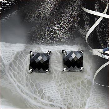 【即日発送可 限定15ペア】pt900 1.40ct ブラックダイヤモンド ブラックプリンセスカット 計1.40カラット[Aランク鑑定カット]100面カットの輝き魅惑ブラックダイヤ -『目指すのはクラシカルな大人』【送料無料】【楽ギフ_メッセ】