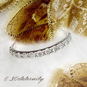 【H&Q鑑別カード付】pt900 pt950 0.3ctダイヤモンドエタニティリング(指輪)『Eternity』今なら[SIクラス/HカラーUP無色透明/GOODup/H&Q】【楽ギフ_メッセ】【0824カード分割】