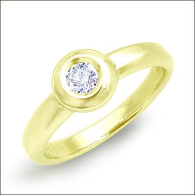 K18YG/PG/WG【0.20ctup】一粒ダイヤモンドリング(指輪)『Le Soleil』0.20ct~0.25ct [SIクラス/無色透明/F~Dカラー]ベゼルセッティング【送料無料】【ブライダル】【エンゲージ】【18金】【18K】【ゴールド】【楽ギフ_メッセ】