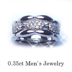 【プラチナ】pt900ダイヤモンドメンズリング『ピンキーリング』0.35ctパヴェダイヤモンド男魂の魅力を誇る指輪期間限定オープン価格にて販売いたします!【メンズジュエリー】【Men's】【送料無料】【楽ギフ_メッセ】