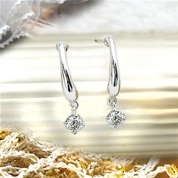 あす楽【大特価】K18【0.12ct】 ダイヤモンド スウィングピアス 揺れるダイヤモンド [SI-2~I1]透明感溢れる輝きライトカラー誕生日 プレゼント ラインダイヤモンド 記念日 結婚 10年 ギフト【送料無料】【楽ギフ_メッセ】
