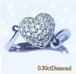 K18 0.3ctハートパヴェダイヤモンドリング(指輪)0.3カラット[Color:F~D/Clarity:SIクラス]【送料無料】【%OFF】【SALE】【半額】【楽ギフ_メッセ】【0824カード分割】