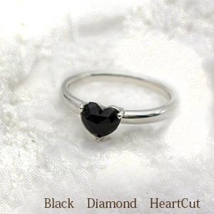 【新作/入荷】K18 0.65ctUPローズカットブラックダイヤモンドリング(指輪)『大粒約6mmハート』ローズカットハート[Heart・BlagkDiamod]【送料無料】【%OFF】【楽ギフ_メッセ】【ブラックダイヤモンド】【0824カード分割】