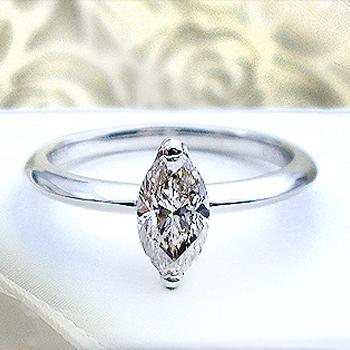 pt900 pt950 0.7~0.80ct マーキスダイヤモンド リング『Marquis Diamond』今なら[SIクラス]透明感溢れるライトカラーダイヤ] 『存在感までレディ・ライク』一粒ダイヤモンドリング 婚約指輪 送料無料【楽ギフ_メッセ】