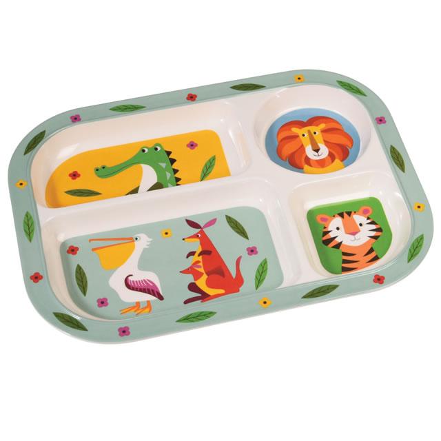 Rex LONDON ランチプレート CREATURES-1 (結婚祝い出産祝い内祝いプレゼントギフト)引越し 挨拶 lunch plate ※ボックスはつきません