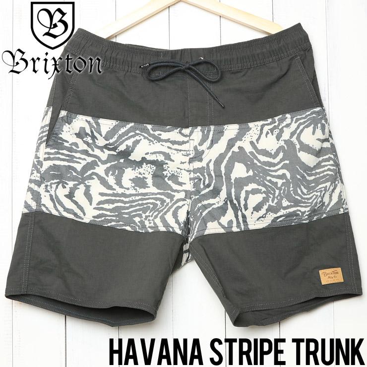 [クリックポスト対応] BRIXTON ブリクストン HAVANA STRIPE TRUNK ハイブリッドショーツ ボードショーツ 04093 WABKN