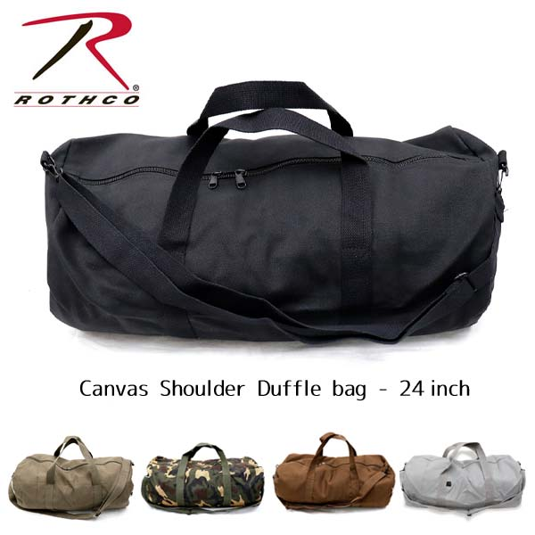 ロスコ /Rothco Canvas Shoulder Duffle Bag 24 Inch ロスコ /Rothco Canvas Shoulder Duffle Bag 24 Inch ダッフルバッグ ボストンバッグ ショルダーバッグ 旅行 ジム バック 大きめ 米軍 ミリタリー【あす楽】