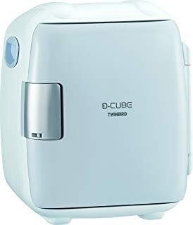 【全品ポイント10倍、更に10%OFFクーポン配付中】TWINBIRD 2電源式コンパクト電子保冷保温ボックス D-CUBE S グレー HR-DB06GY