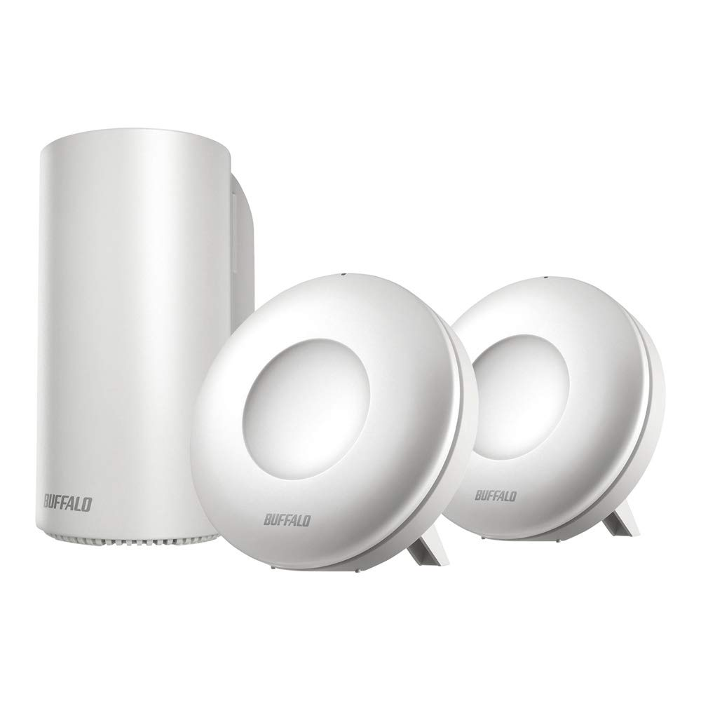 BUFFALO WiFi 無線LAN AirStation connect 親機+専用中継機2台セットモデル WRM-D2133HP/E2S 11ac ac2200 1733+400Mbps デュアルバンド 独自メッシュ機能搭載 4LDK 15台 メーカー動作確認済み