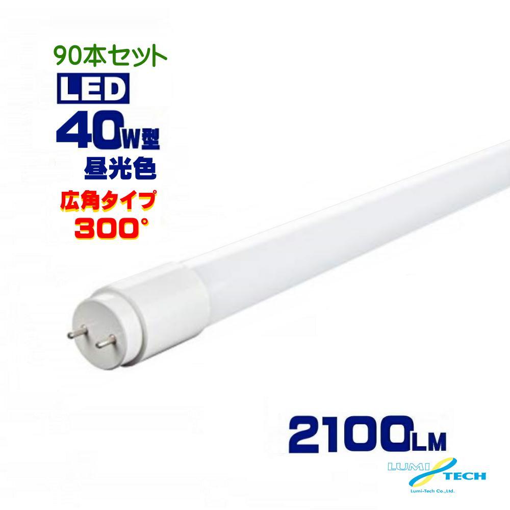 広角LED蛍光灯 昼光色 300度タイプ 90本セット