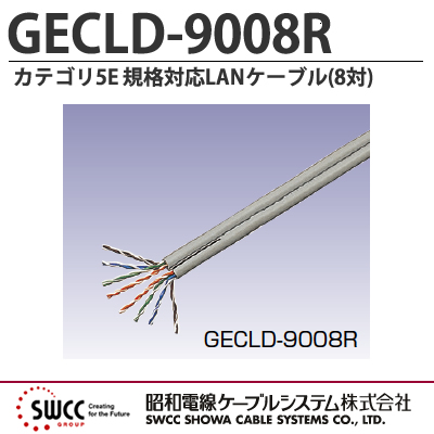 【昭和電線】Cat.5e規格対応LANケーブル(8対) GECLD-9008R3000m