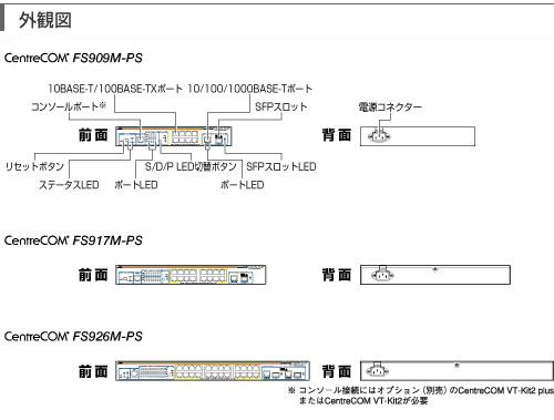 【AlliedTelesis】アライドテレシスギガビットイーサネット・PoE+スイッチAT-GS900/8PS