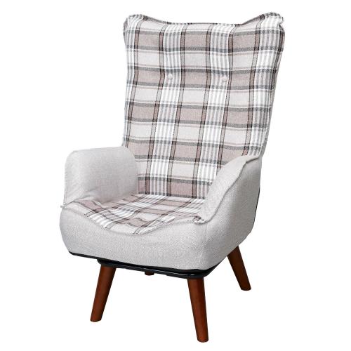 座椅子 高座椅子 一人掛け ソファ ソファー コンパクト 肘掛け 腰痛 ハイバック 折りたたみ 一人暮らし ワンルーム 敬老の日 ギフト プレゼント 座イス回転式ハイバックルームチェア ニルス ブラウン NKHR-BR回転座椅子 高座椅子