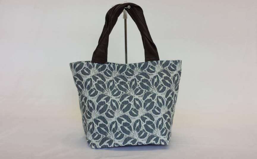 【総レースハンドバッグ♪】【レディースバッグ♪】 花柄 本革使用の日本製 《メール便不可》