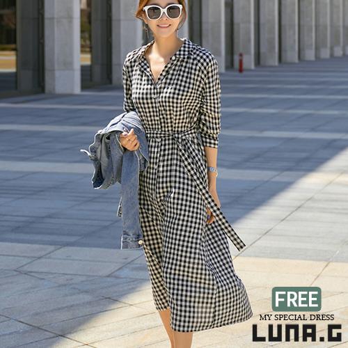 d1e5dade1a2d2 シャツワンピースチェックロングガウンワンピースワンピースきれいめサマードレスレディース韓国ファッションリゾートロング