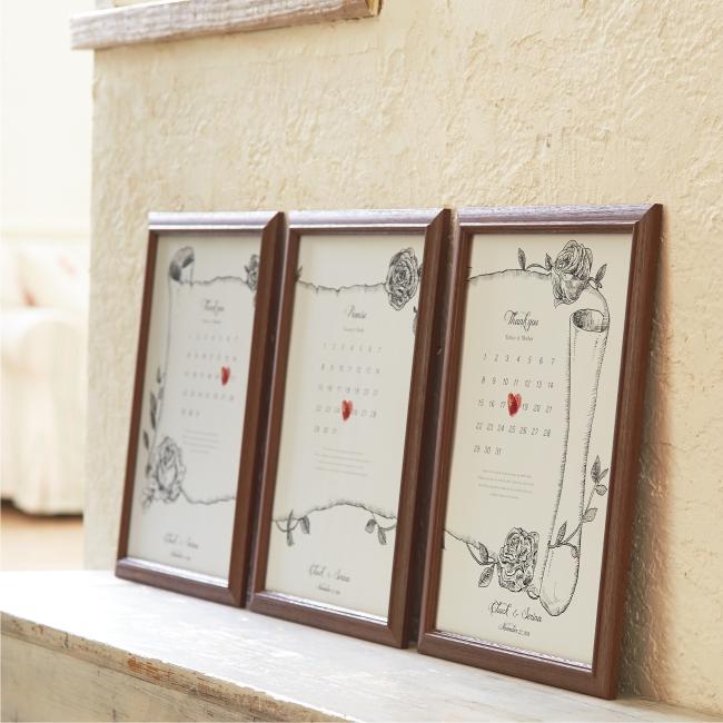 【名入れ】★Marca サンクスボード(3枚組)【結婚式 記念品 両親贈呈用 お揃い】
