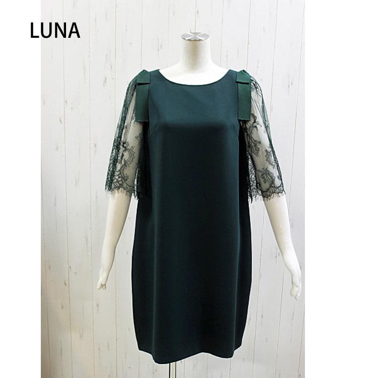 Luna (ヤンガニーの姉妹ブランド) 袖レースが可愛いワンピース(レディース)F-5539