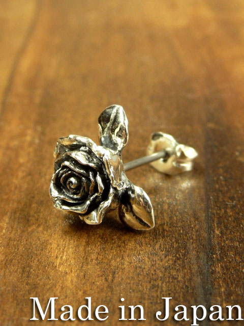 cannabis925[rose pierce](シルバーアクセサリー/シルバー925/Silver925/カンナビス/唐草/ピアス/メンズ/レディース/ユニセックス/アラベスク/バラ/薔薇)