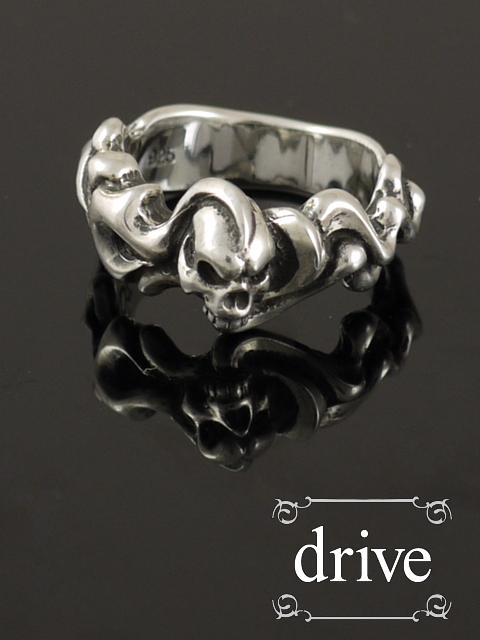 drive[バーニングスカル](シルバーアクセサリー/シルバー925/Silver925/ゴシック/攻撃/攻撃的ゴシック/ドライブ/ドライヴ/リング/指輪/メンズ/レディース/ユニセックス/スカル/骸骨/ドクロ/炎/フレイム/)