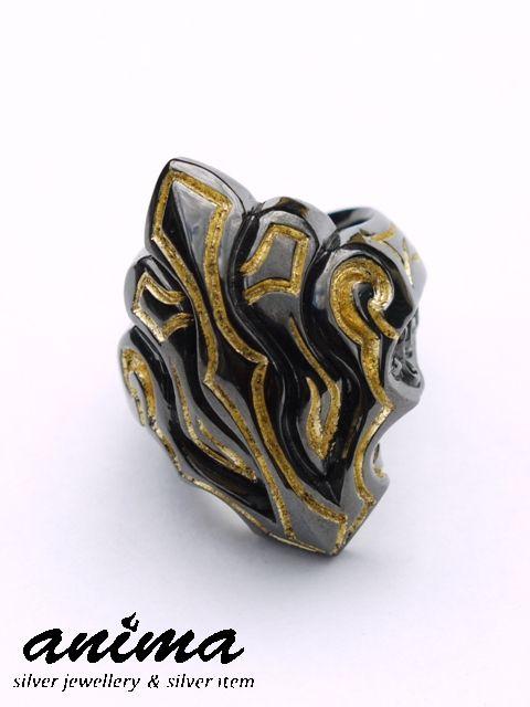 anima exists in all creation[ヴァルキリーリング](シルバーアクセサリー/シルバーアクセ/シルバー/シルバー925/Silver925/銀/アニマ/リング/指輪/メンズ/純金/ブラック/ゴールド/金箔/24金/ブラックロジウム/K24/)