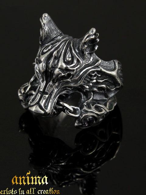 anima exists in all creation[Fenrir](シルバーアクセサリー/シルバーアクセ/シルバー/シルバー925/Silver925/銀/アニマ/リング/メンズ//ユニセックス//天然石/アイオライト/フェンリル/妖狼)