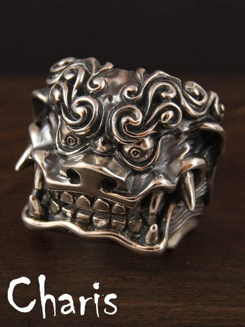 Charis Left Handed Materials[獅子](シルバーアクセサリー/シルバーアクセ/シルバー/シルバー925/Silver925/銀/レフトハンド/マテリアル/リング/指輪/メンズ/獅子舞/和物/日本)