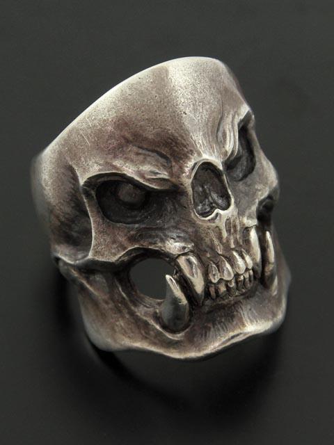 Drop kick jewelry Bite Head スカルリング シルバーアクセサリー シルバー925 指輪 激安特価品 ドロップキック リング Silver925 新作通販 メンズ ユニセックス