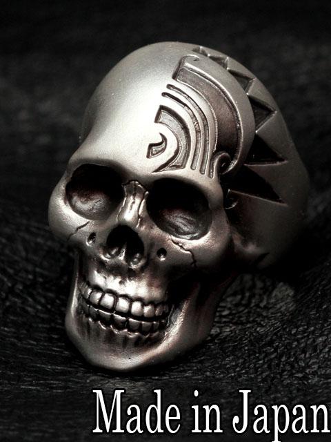 Dual Flow[engrave skull ring] (シルバーアクセサリー/シルバー925/Silver925/デュアルフロウ/リング/指輪/メンズ/レディース/ユニセックス/トライバル/スカル/スカルリング/Dualflow)