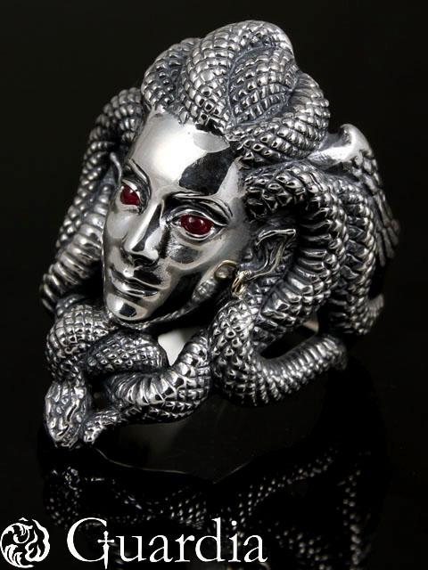 Guardia[Medusa] (シルバーアクセサリー/シルバーアクセ/シルバー/シルバー925/Silver925/銀/ガルディア/リング/指輪/メンズ/レディース/ユニセックス/メデューサ)