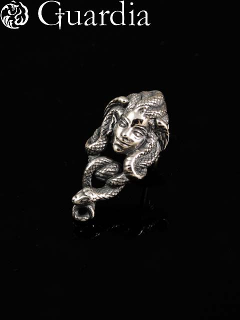 Guardia [Medusa]  (銀子配飾/shirubaakuse/銀子/銀子925/Silver925/銀/garudia/無環耳環/人/女士/男女兩用/medeyusa)