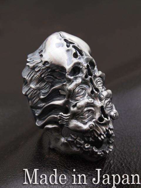 LegioMade[死の王3](シルバーアクセサリー/シルバー925/Silver925/レギオメイド/リング/指輪/メンズ/スカルリング)