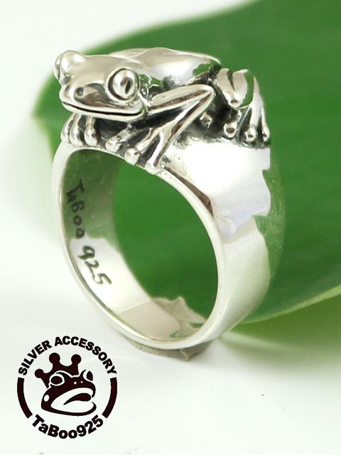 TaBoo925[赤目雨蛙リング] (シルバーアクセサリー/silver925/リング/シルバーアクセ/銀/メンズ/レディース/ユニセックス/かえる/蛙/指輪)