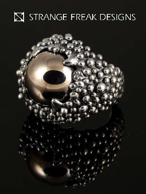STRANGE FREAK DESIGNS[リゾネラ](シルバーアクセサリー/シルバー925/Silver925/ストレンジフリークデザインス/ストフリ/リング/指輪/メンズ/レディース/ユニセックス/ピンク義眼)