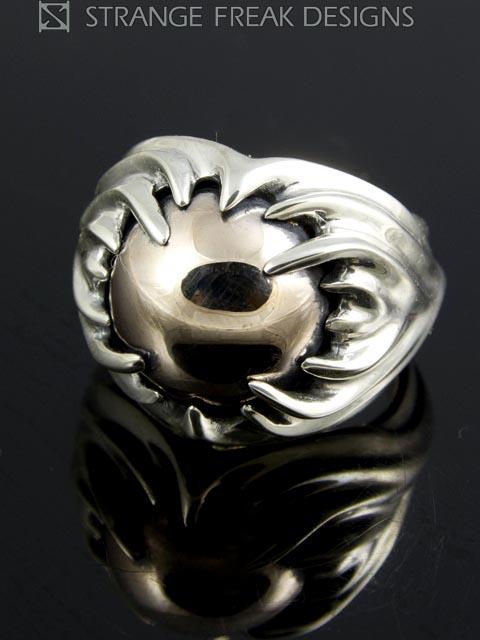 STRANGE FREAK DESIGNS[ウィズミル](シルバーアクセサリー/シルバー925/Silver925/ストレンジフリークデザインス/ストフリ/リング/指輪/メンズ/ユニセックス/ピンクシルバー)
