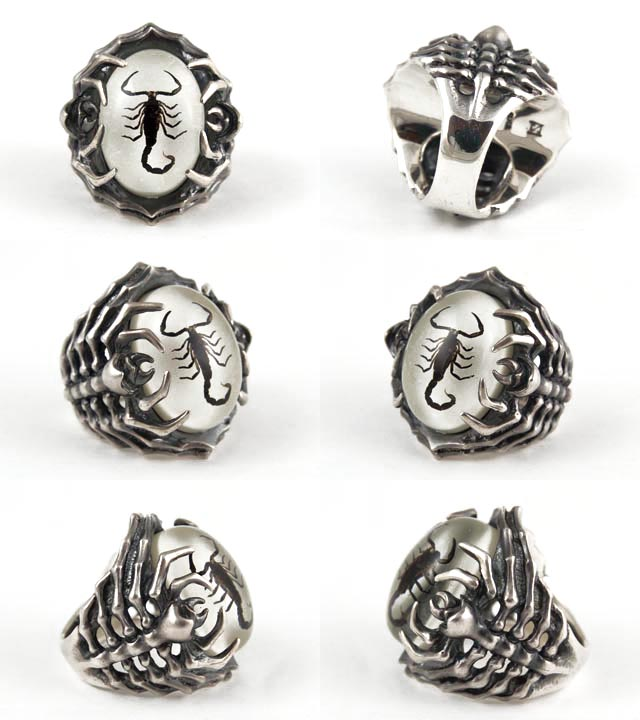 silver and view product sterling p scorpion ring rings scorpio side sonoda phoenix