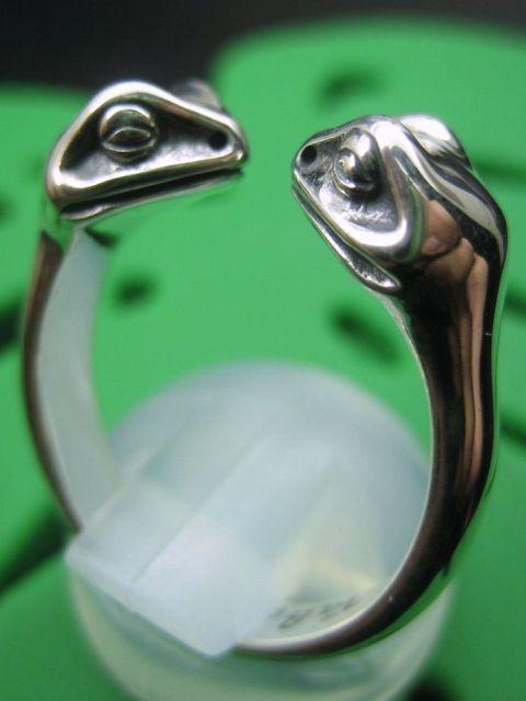 TaBoo925[双頭蛙リング] (シルバーアクセサリー/シルバーアクセ/シルバー/シルバー925/Silver925/銀/タブー/蛙/カエル/かえる/リング/指輪/メンズ/レディース/ユニセックス)