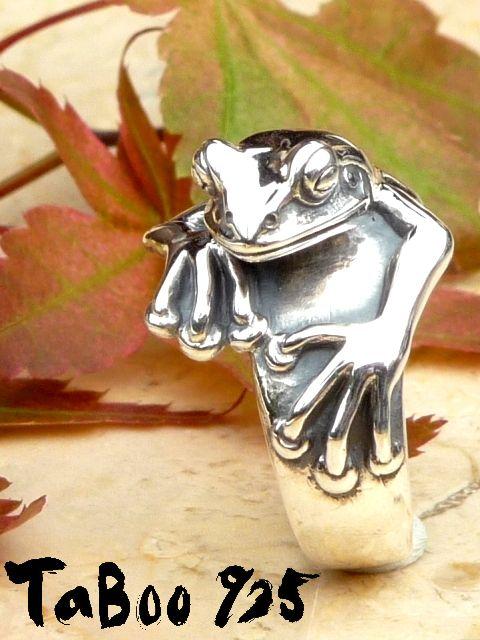TaBoo925[看板蛙リング2] (シルバーアクセサリー/シルバーアクセ/シルバー/シルバー925/Silver925/銀/タブー/蛙/カエル/かえる/リング/指輪/メンズ/レディース/ユニセックス)