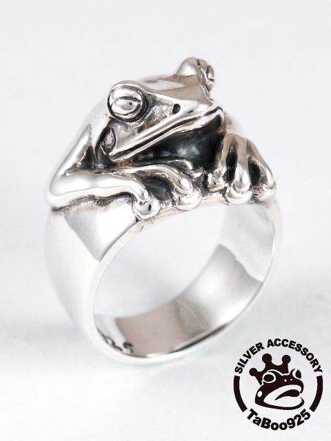 TaBoo925[看板蛙リング](シルバーアクセサリー/シルバーアクセ/シルバー/シルバー925/Silver925/銀/タブー/蛙/カエル/かえる/リング/指輪/メンズ/レディース/ユニセックス)
