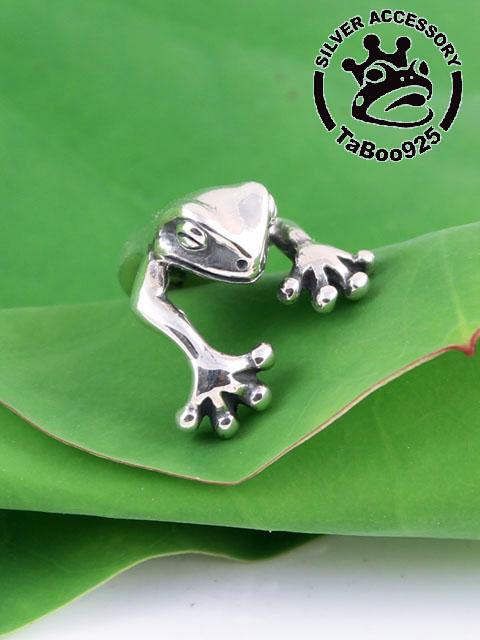 TaBoo925[巻きつき蛙リング] (シルバーアクセサリー/silver925/リング/シルバーアクセ/銀/メンズ/レディース/ユニセックス/蛙/カエル/かえる/フリーサイズ)
