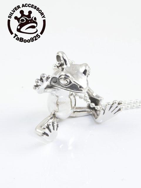 TaBoo925[蛙人ペンダント2] (シルバーアクセサリー/シルバーアクセ/シルバー/シルバー925/Silver925/銀/タブー/ネックレス/ペンダント/レディース/ユニセックス/かえる/カエル/)