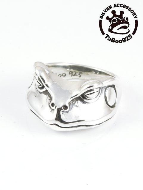TaBoo925[カエルフェイスリング・ヒキガエル] (シルバーアクセサリー/silver925/リング/シルバーアクセ/銀/メンズ/レディース/ユニセックス/蛙/カエル/かえる)